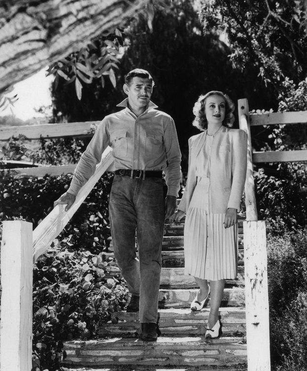 Foto: Clark Gable y Carole Lombard, en su rancho de Encino. (CP)