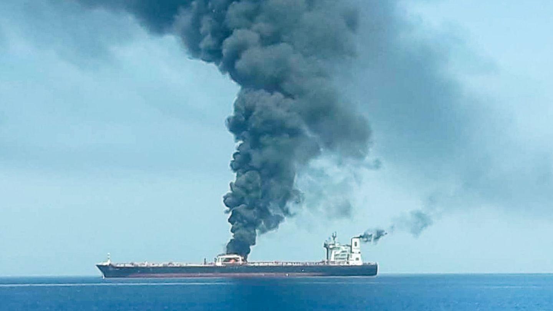 Imagen del carguero atacado. (Reuters)