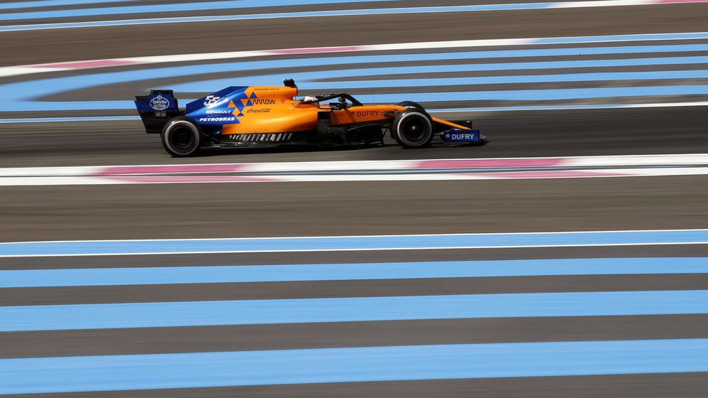 Foto: Carlos Sainz en el Gran Premio de Francia. (Efe)