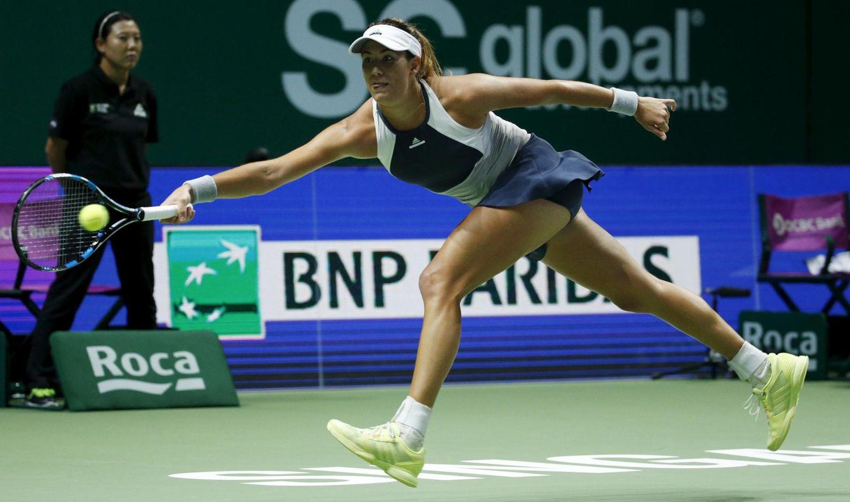 Foto: Muguruza remontó en los tres sets, pero sólo pudo ganar el primero (Reuters)