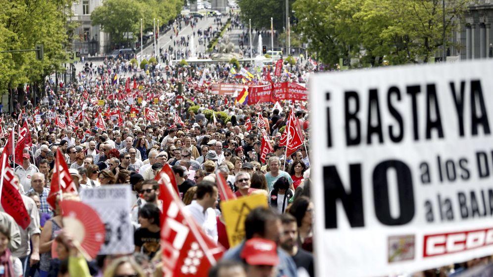 Foto: Manifestación del Primero de Mayo en Madrid. (EFE)