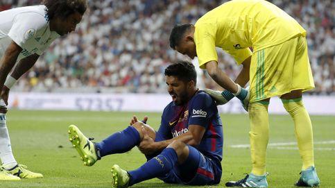 Más problemas para el Barcelona: Luis Suárez, un mes de baja por lesión