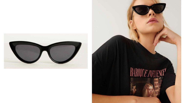 Gafas de sol cat eye de Bershka (Cortesía)