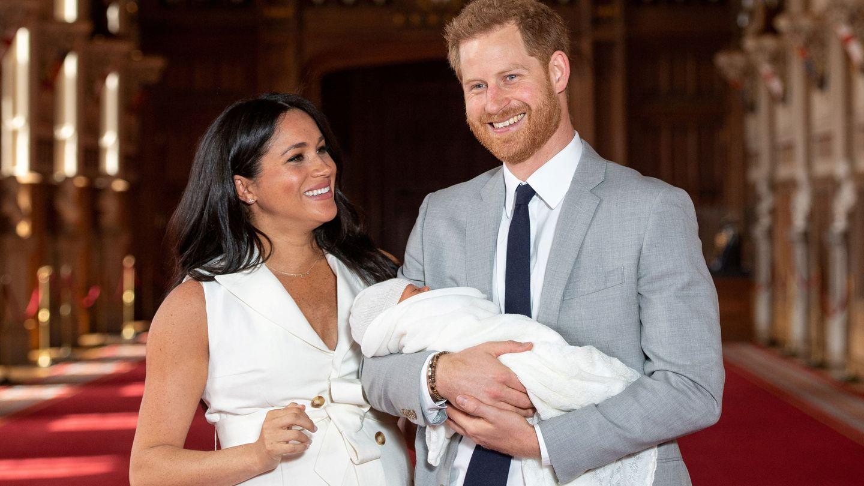 Meghan y Harry presentaron a su hijo el 8 de mayo en Windsor. (Reuters)