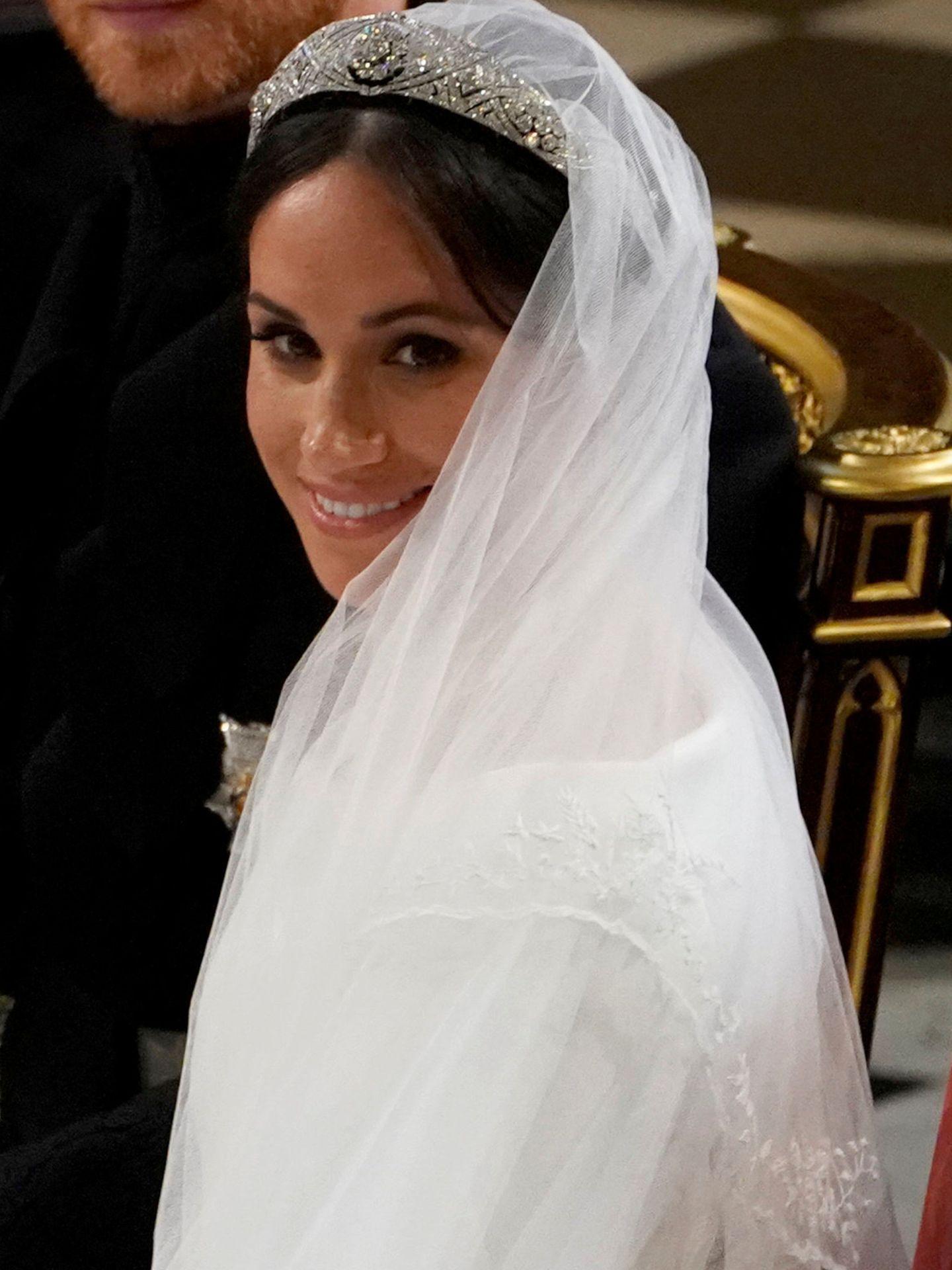 Meghan Markle, el día de su boda con el príncipe Harry. (Reuters)