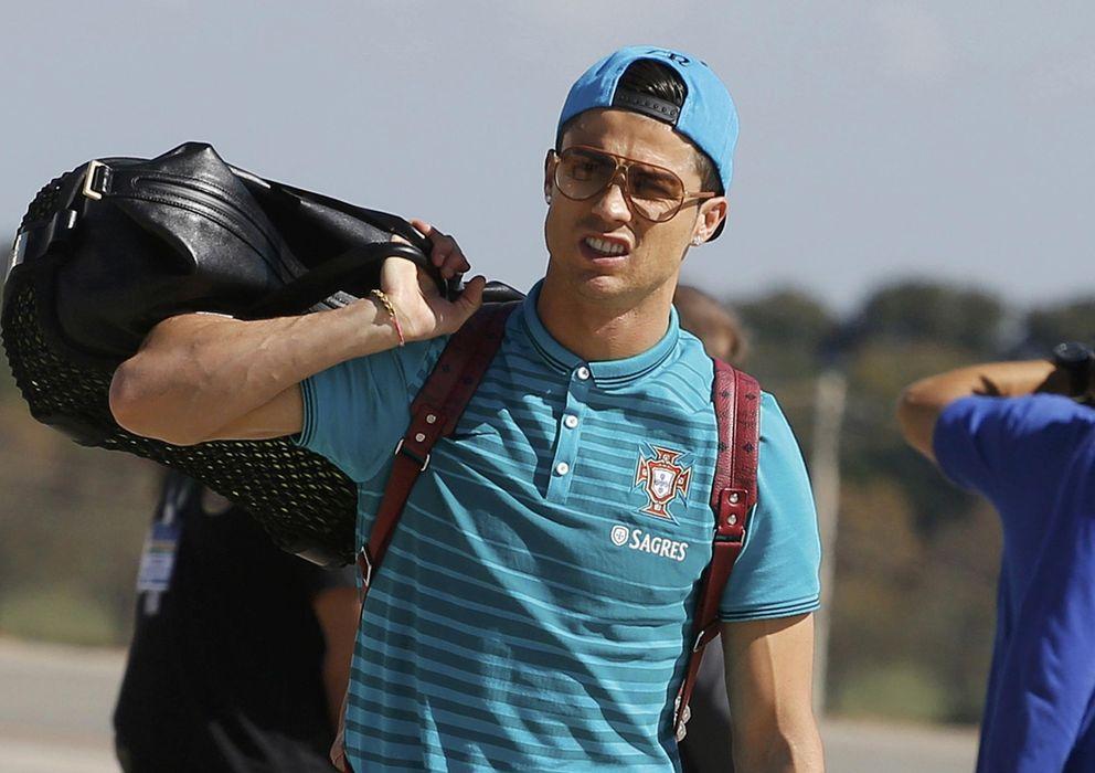 Foto: Cristiano Ronaldo, a la llegada de Portugal a Brasil.
