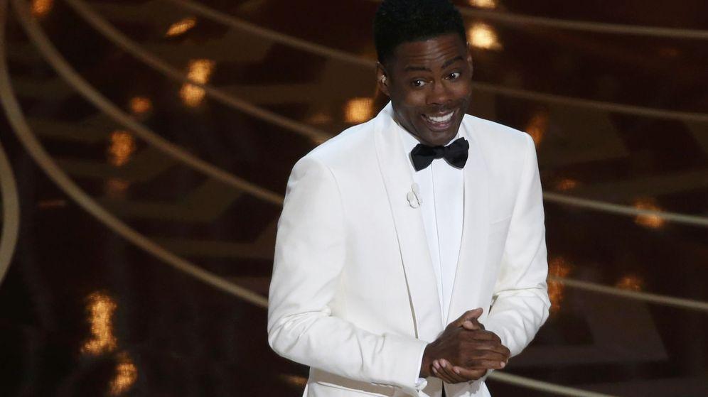 Foto: El presentador Chris Rock, en un momento de la gala (Reuters)