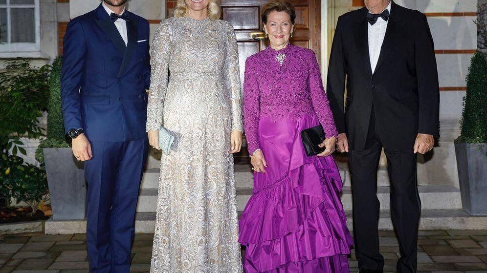 Foto: Los príncipes Haakon y Mette-Marit y los reyes Sonia y Harald de Noruega. (Instagram Casa Real Noruega)