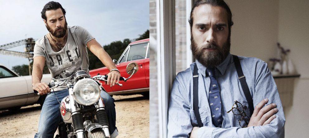 Foto: El modelo Christian Göran en campañas de Fuga Denim y Scotch & Soda.