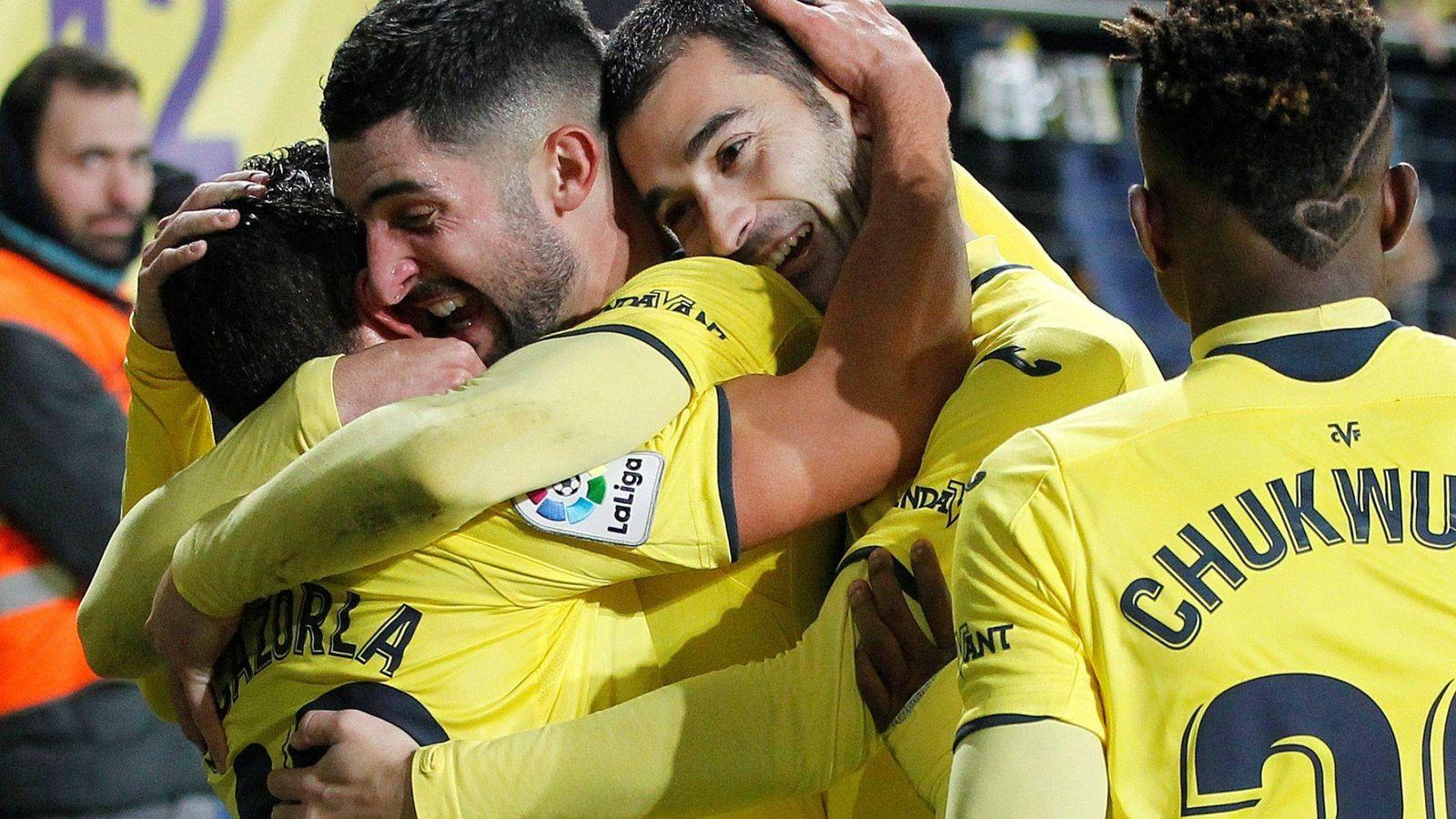 Foto: Jugadores del Villarreal celebran un gol. (EFE)