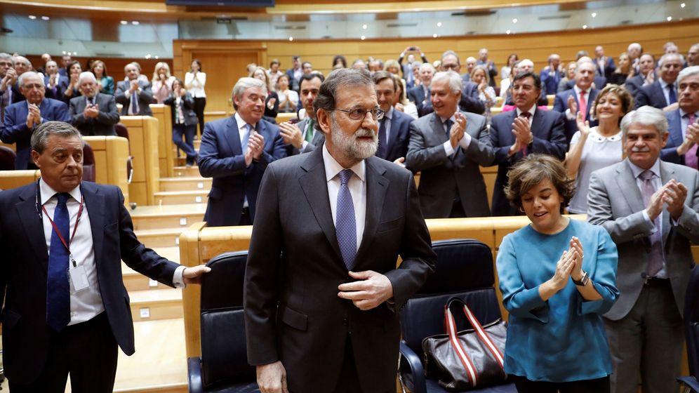 Foto: Mariano Rajoy en la sesión del Senado. (EFE)