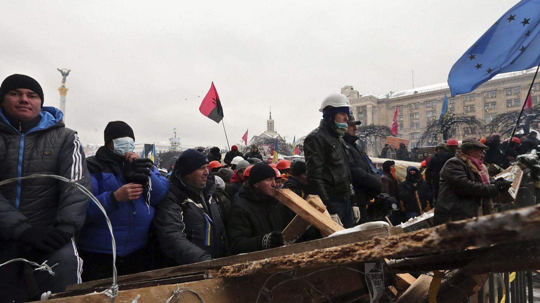 Protestas de la oposición en Kiev (Efe).