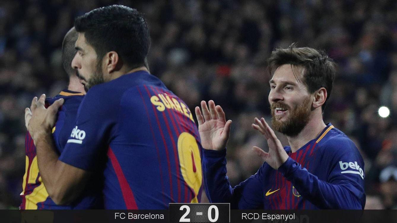 Foto: Messi y Suárez celebran el segundo gol. (Reuters)