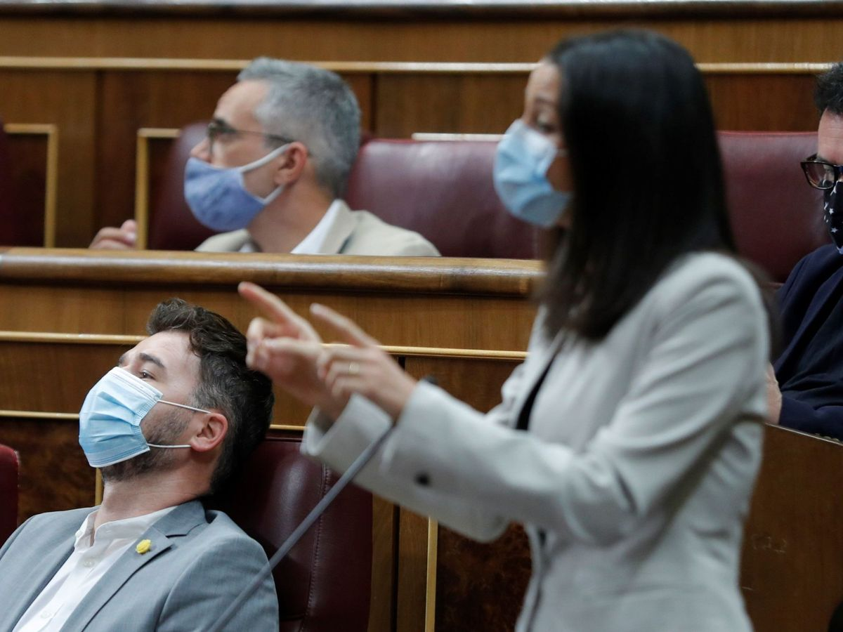Foto: La líder de Ciudadanos, Inés Arrimadas, en el Congreso. (EFE)