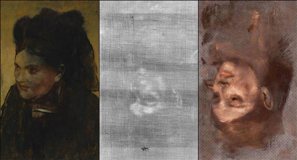 Foto: El 'Retrato de una mujer' de Degas esconde invertida una imagen de la modelo Emma Dobigny. / David Thurrowgood