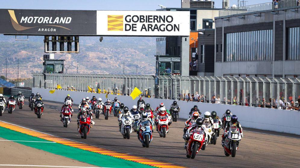 Foto: Imagen de una carrera celebrada el sábado 31 de agosto en MotorLand Aragón. (Foto: MotorLand Aragón)