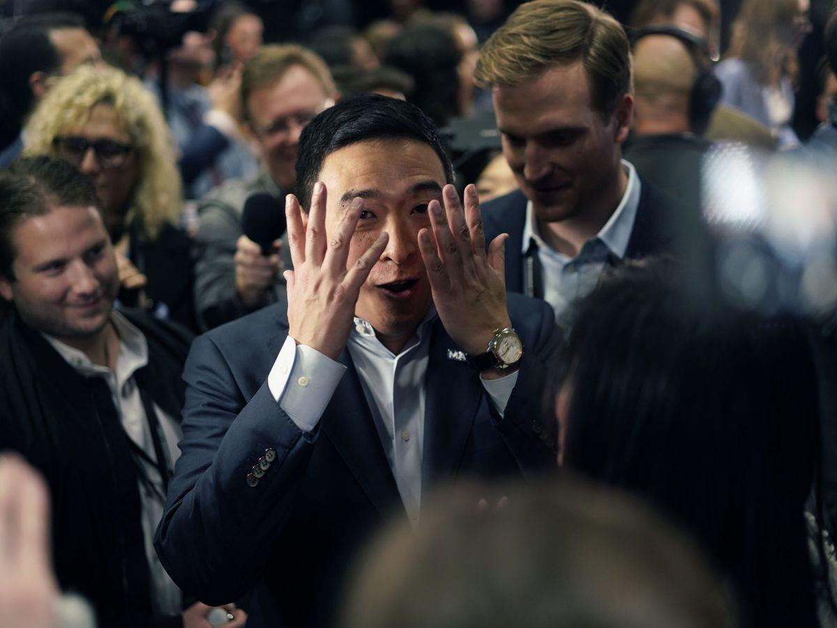 Foto: El candidato a las primarias demócratas Andrew Yang. (Reuters)