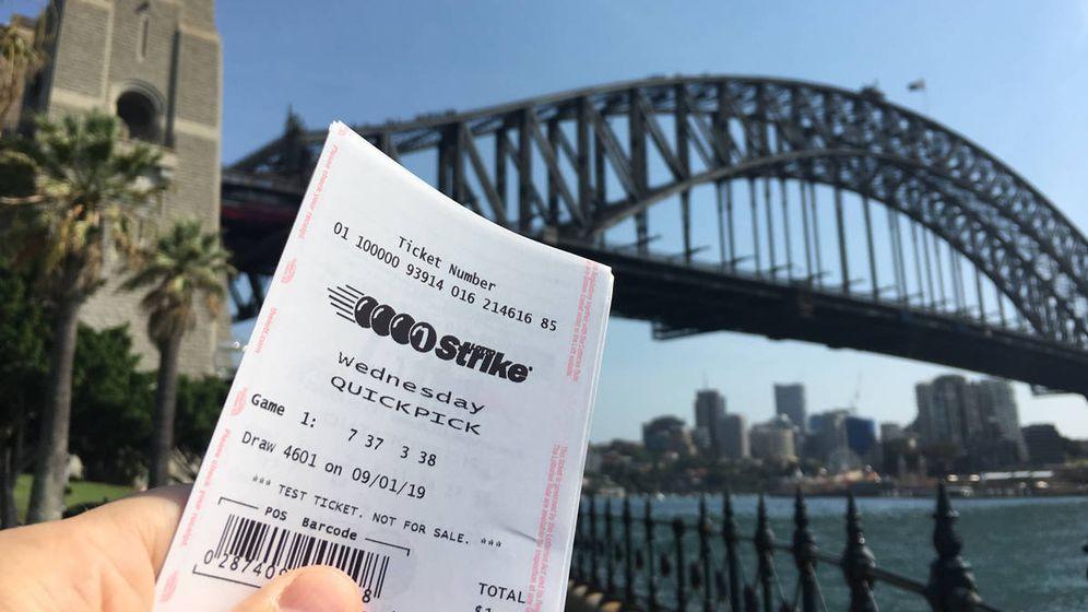 Foto: La idea del ganador es, al menos, pagar la hipoteca y llevarse a su familia de viaje (Foto: Lotto Australia)