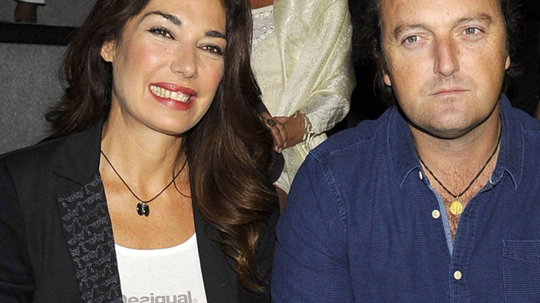 Raquel Revuelta y Raúl Gracia en el front row de Desigual (Gtres)