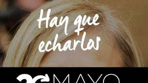 Podemos calienta el 20M en la calle con las caras de Cifuentes y Rajoy: 'Hay que echarlos'