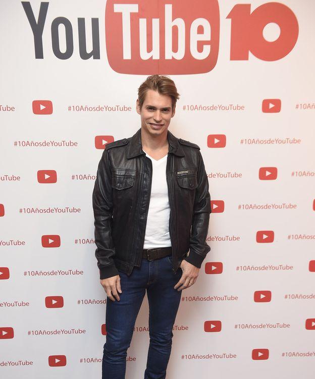 Foto: Carlos Baute durante una fiesta organizada por YouTube