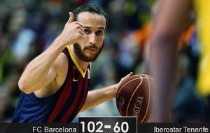 El Barcelona apabulla al Tenerife por 42 puntos de diferencia