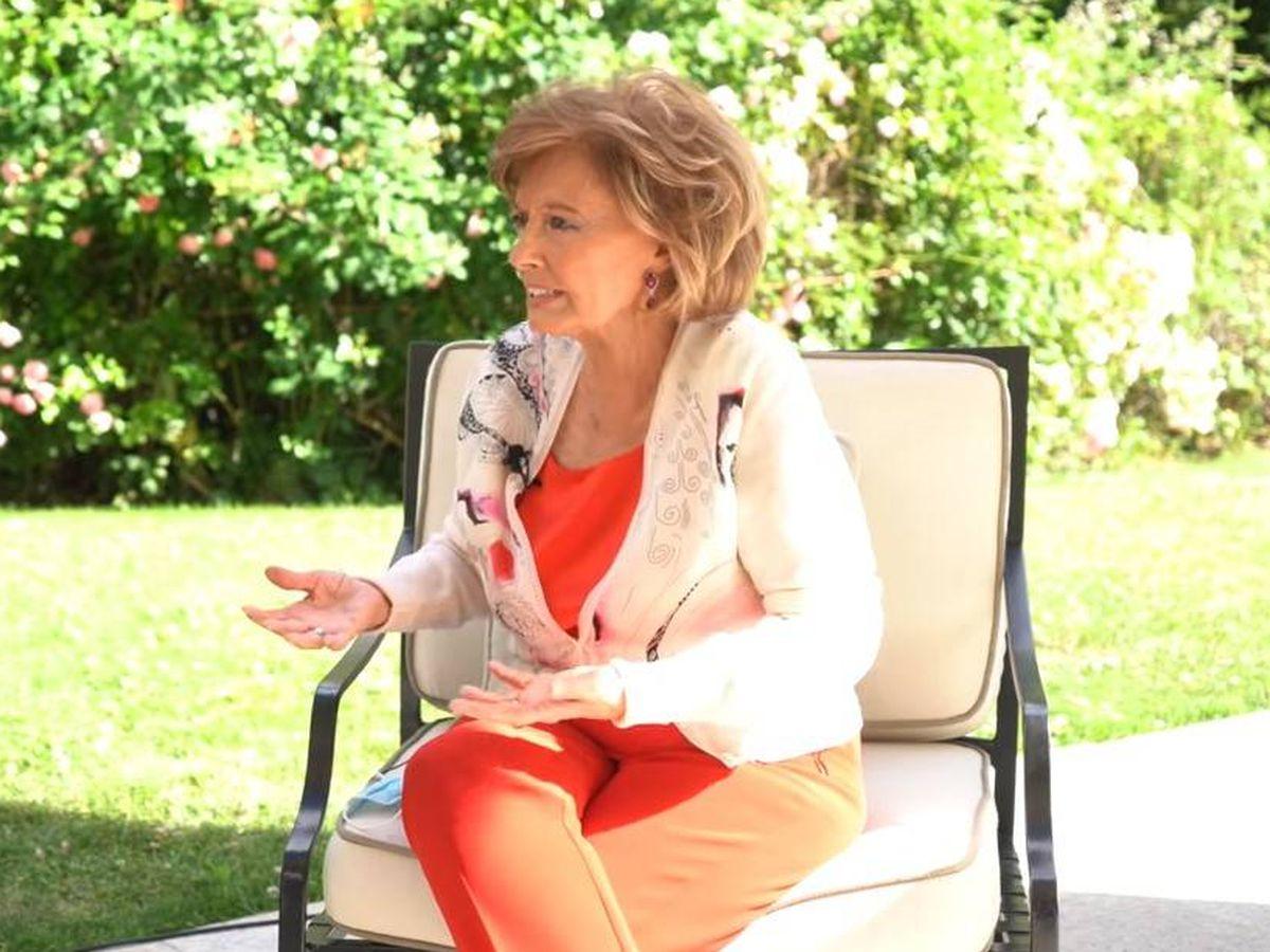 Foto: La presentadora María Teresa Campos. (Youtube)