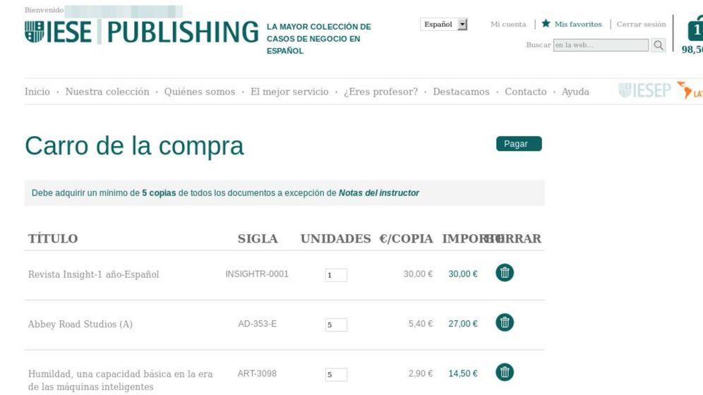 Foto: Pantallazo de parte de los servicios web del IESE comprometidos. (Imagen: La9)