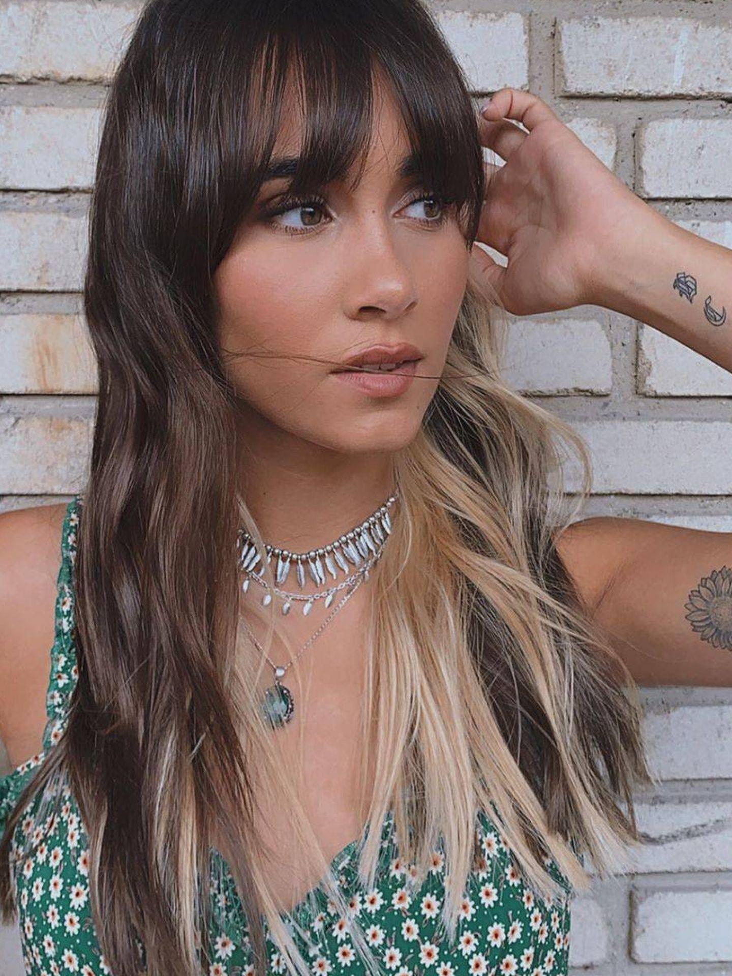 Aitana sorprende con un nuevo cambio de look, se pasa al rubio platino a medias. (Instagram, @aitanax)