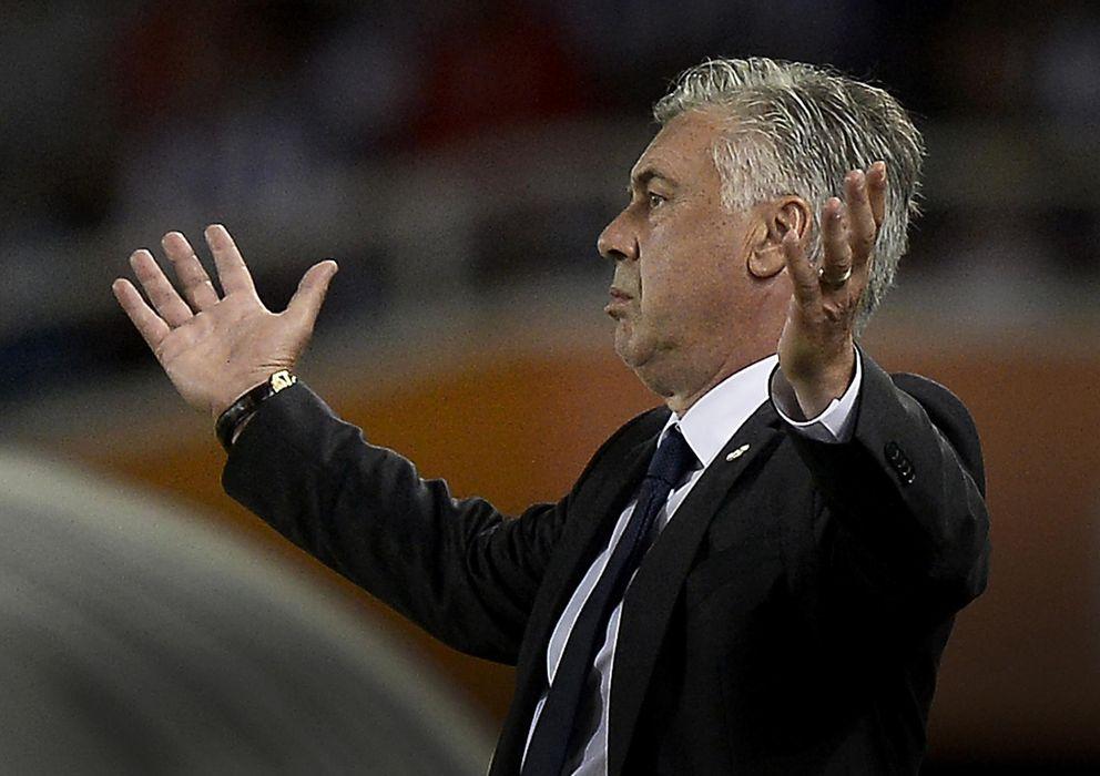Foto: Carlo Ancelotti, con rostro desencajado en Anoeta (Reuters)