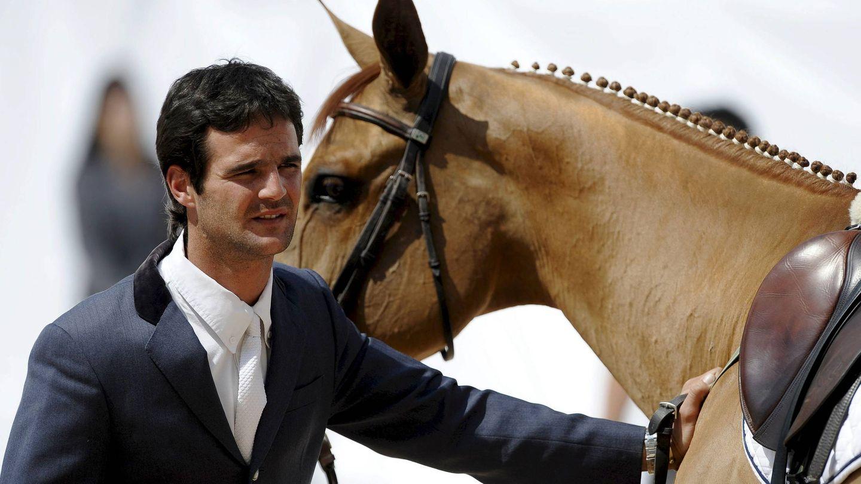 José Bono júnior, en el Gran Premio de España del Global Champions Tour, en Valencia. (EFE)
