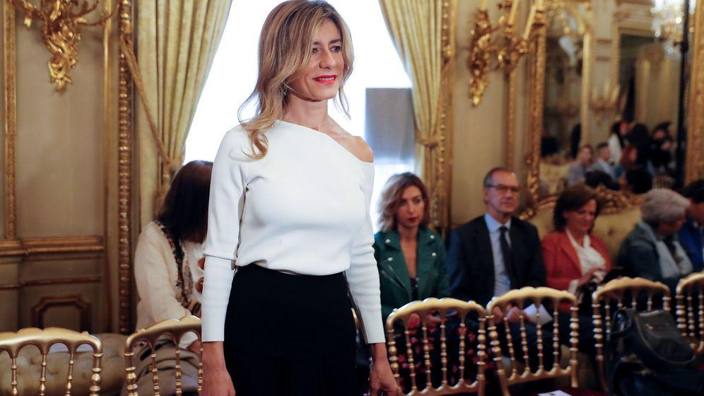 Foto: Begoña Gómez, en el desfile de novias Atelier Couture de Hannibal Laguna.