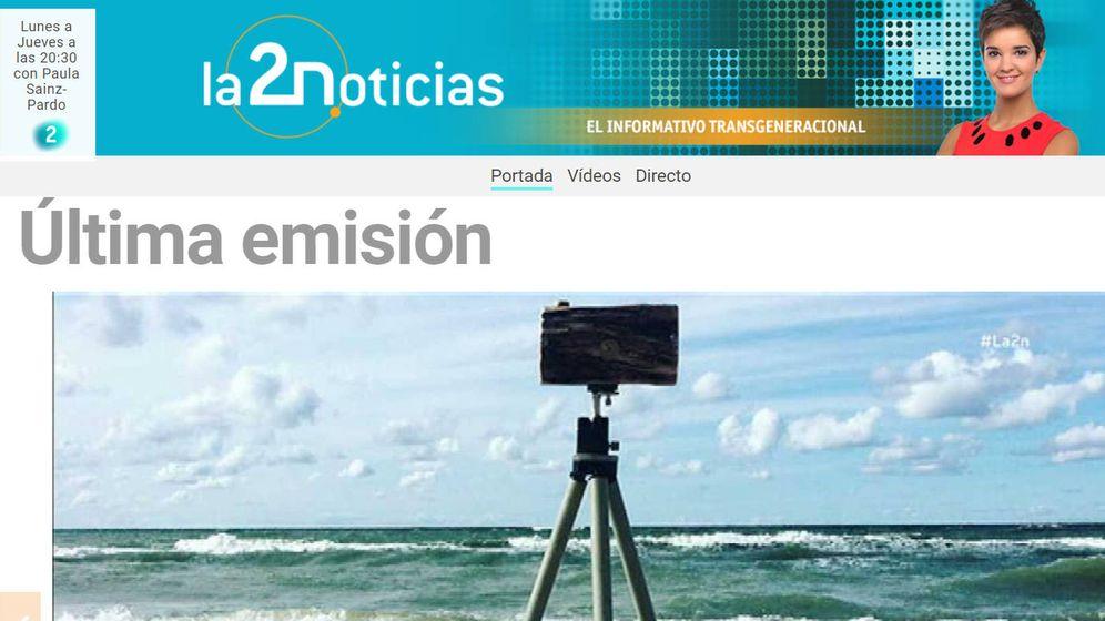 Foto: La web de TVE ya anuncia los cambios en La 2 Noticias