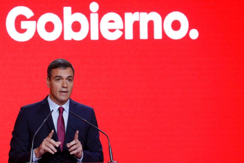 Foto: Pedro Sánchez, este 30 de septiembre, en la presentación de la precampaña del PSOE para el 10-N, en Madrid. (EFE)