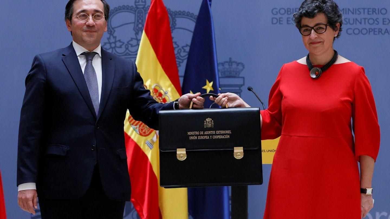 José Manuel Albares, con Arancha González Laya. (EFE)