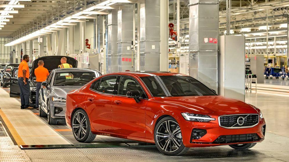 Foto: En la nueva planta de Charlestone, inaugurada ayer, se produce en exclusiva el nuevo Volvo S60 para todo el mundo.