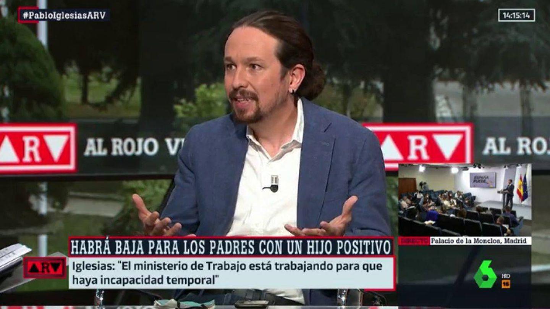 Pablo Iglesias, en 'Al rojo vivo'. (La Sexta)