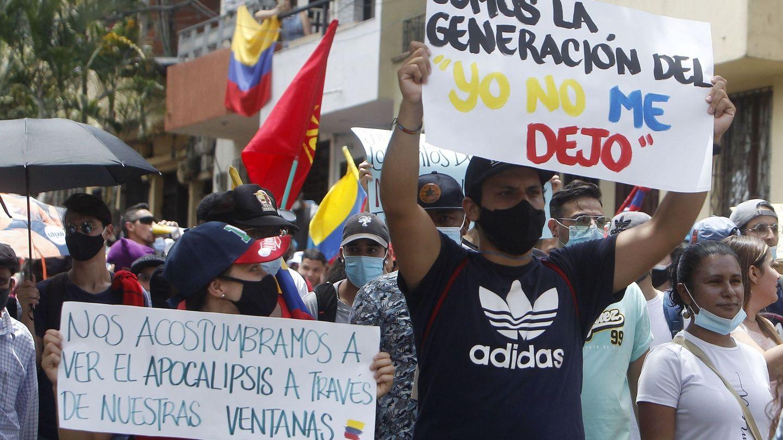 Manifestaciones en Medellín. (EFE)