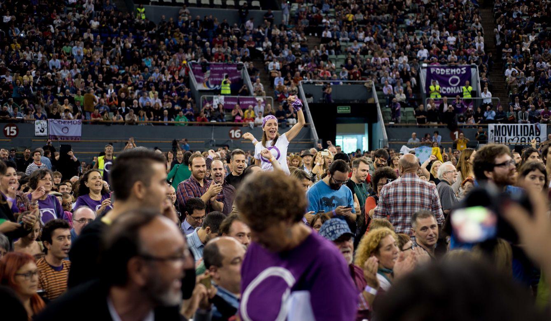 Imagen de archivo de la asamblea de Podemos en Vistalegre. (Reuters)