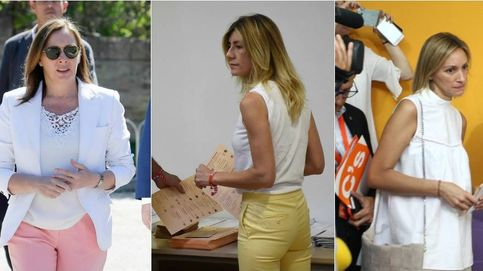 Las 'primeras damas' eligen el blanco para acudir a las urnas en el 26J