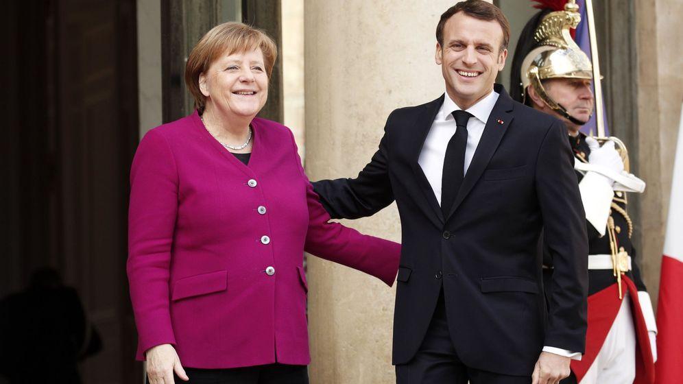 Foto: Los presidentes de Alemania y Francia, Angela Merkel y Emmanuel Macron. (EFE)