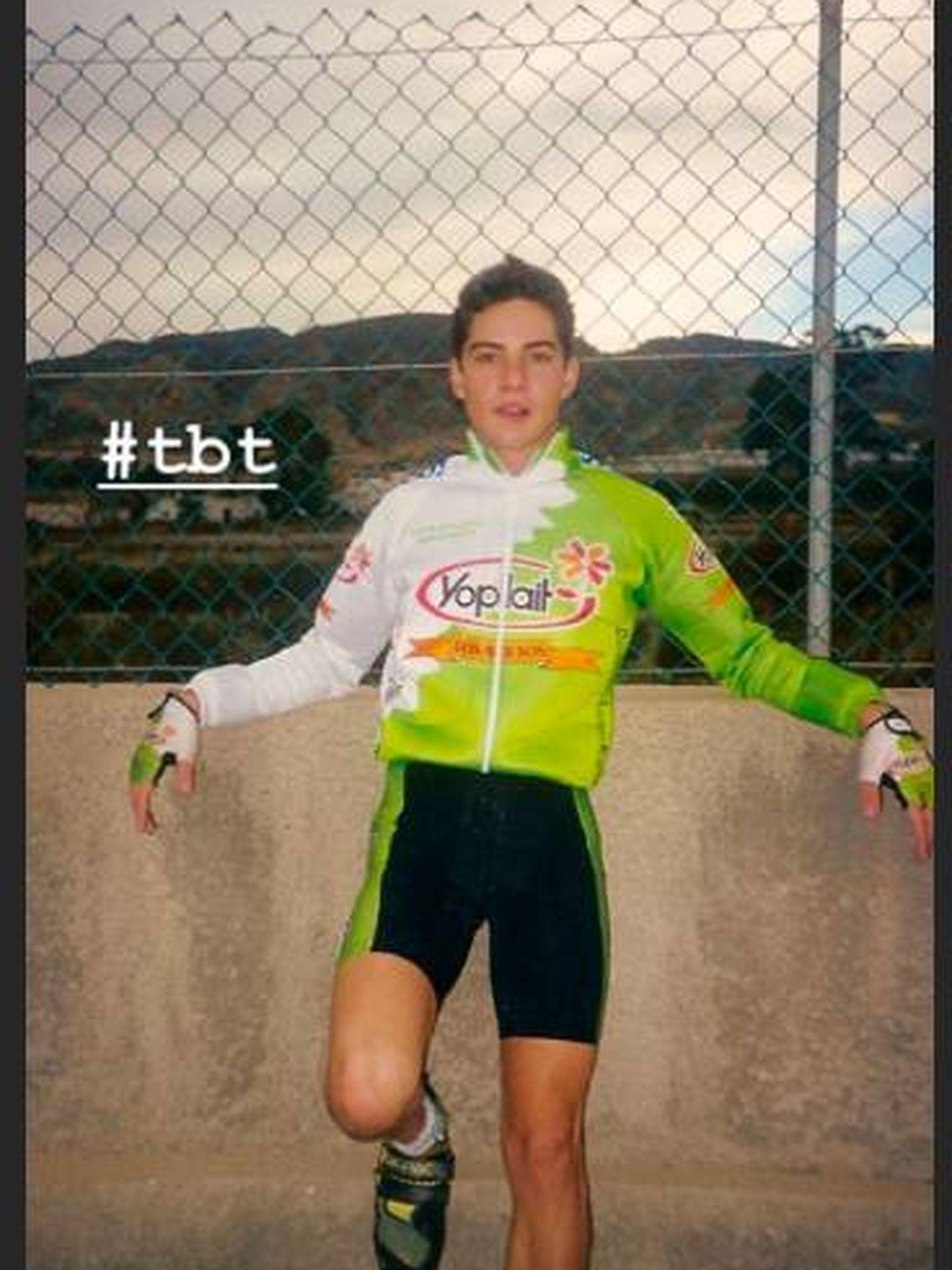 Bisbal, con el maillot en reds sociales. (Instagram)