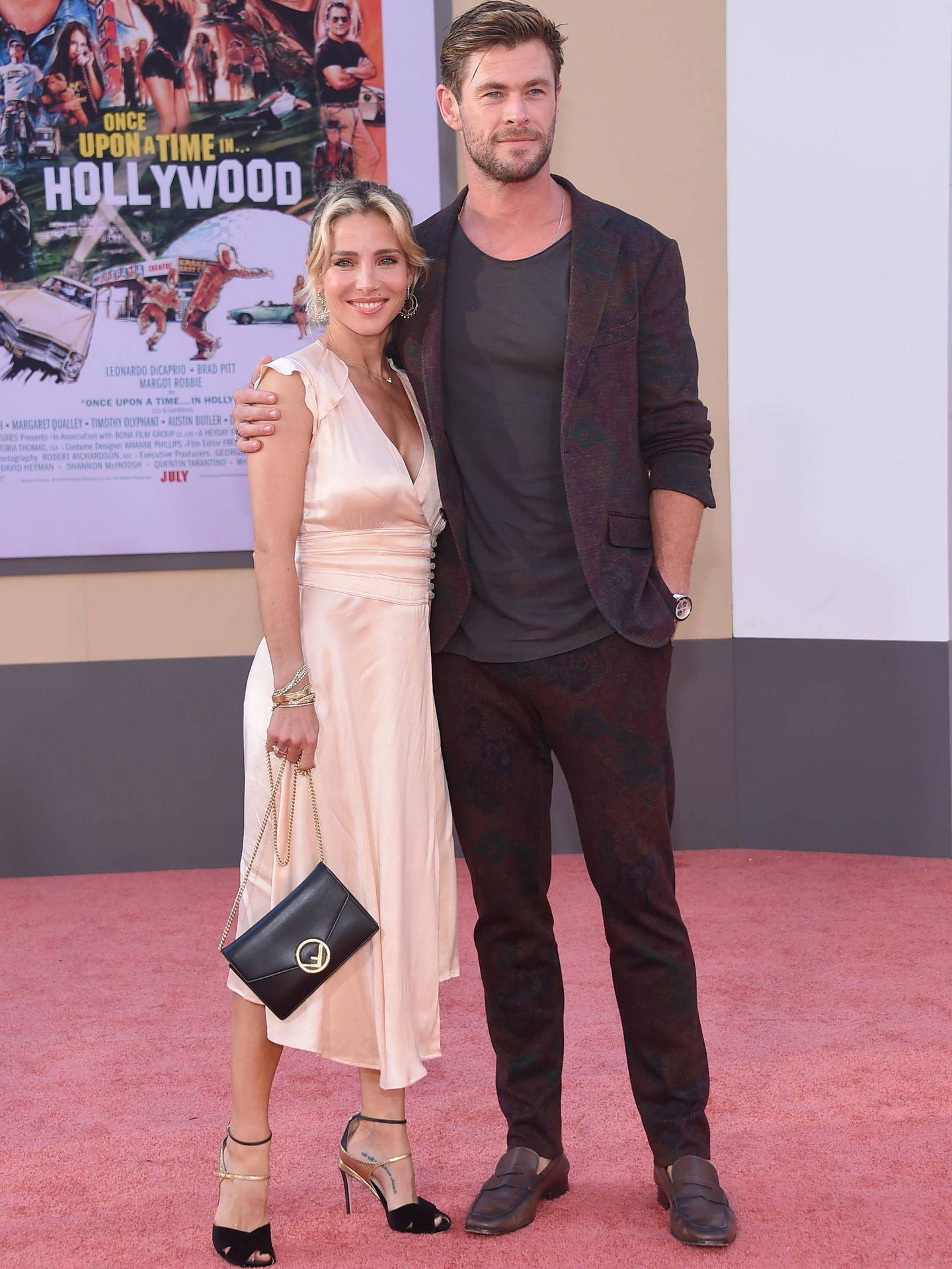 Elsa Pataky y Chris Hemsworth, en un estreno en Hollywood. (Cordon Press)