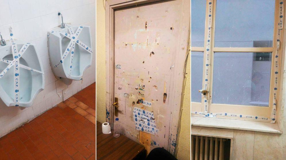 Foto: La cinta policial se utiliza para todo en Leganitos. (A. V.)