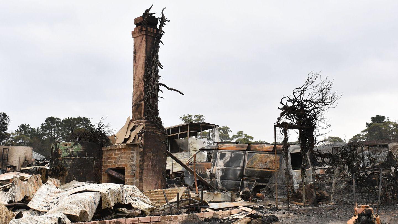 Zona arrasada por el fuego en Australia. (Foto: EFE)