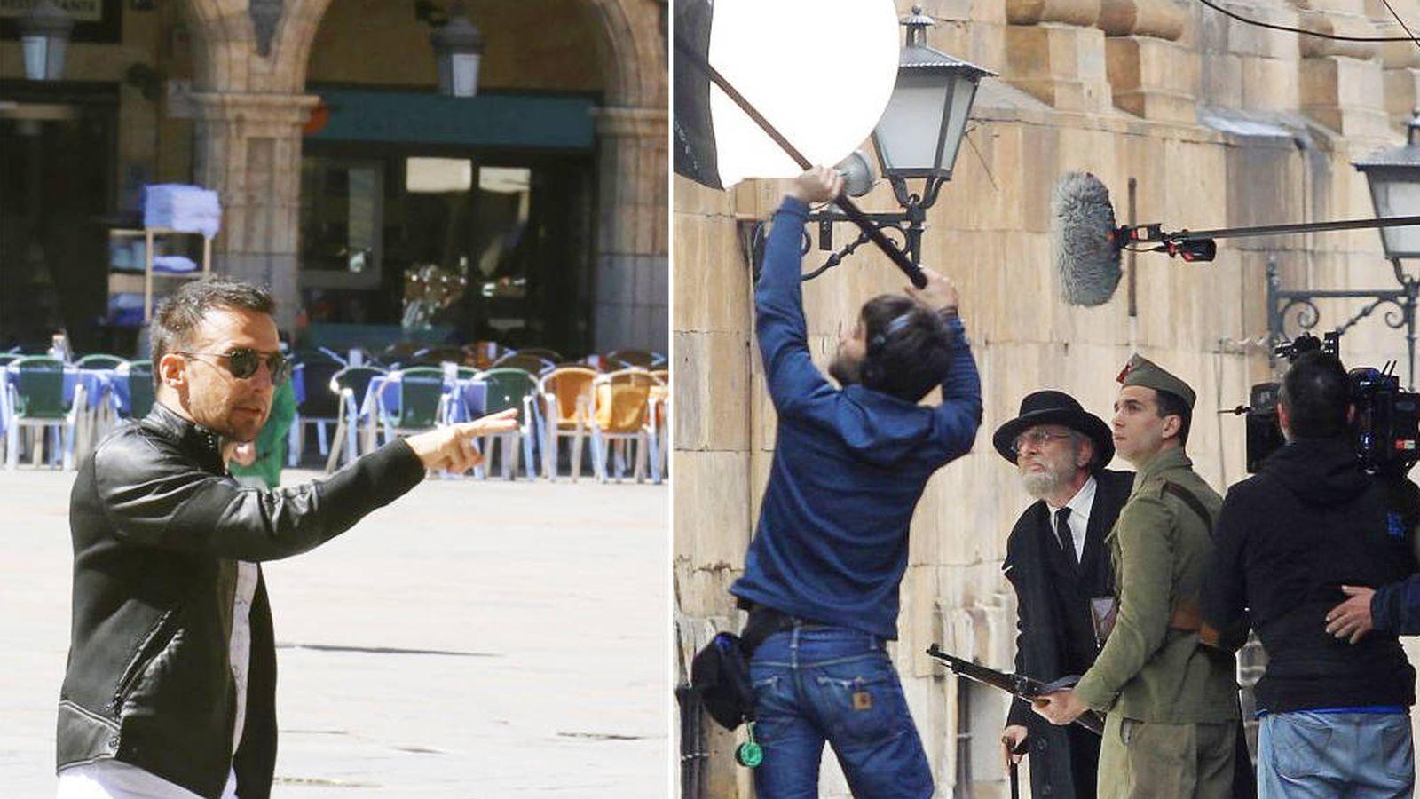 Foto: Amenábar durante el rodaje de su última película, 'Mientras dure la guerra'. (EFE)