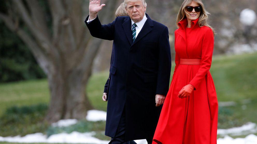 Melania Trump, la perfecta encarnación de la mujer de rojo