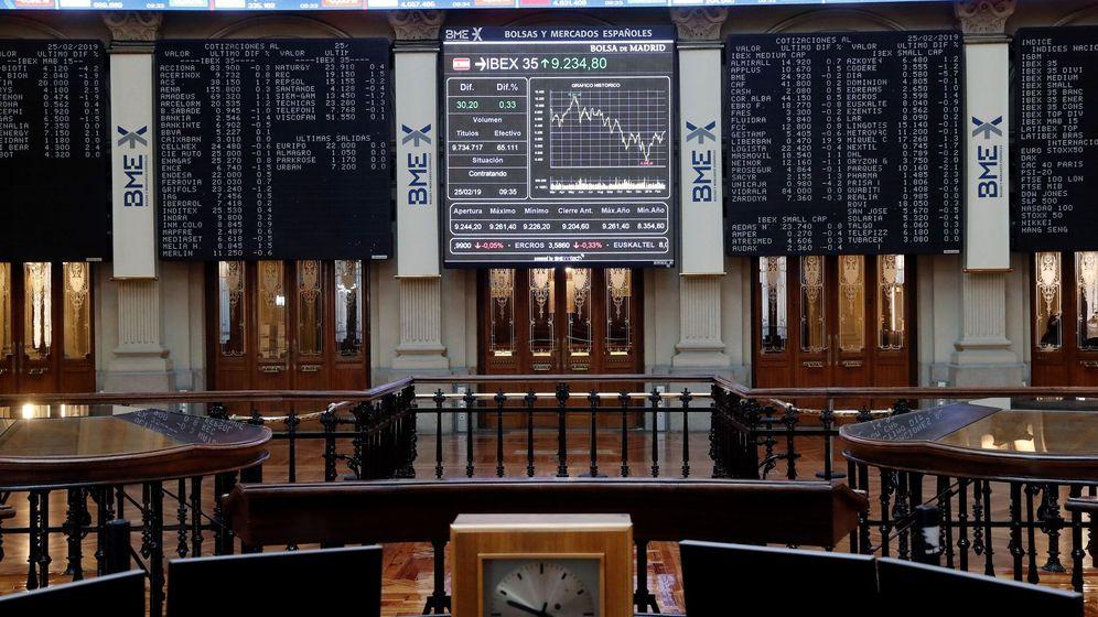 Foto: El principal indicador de la Bolsa española, el IBEX 35. (EFE)