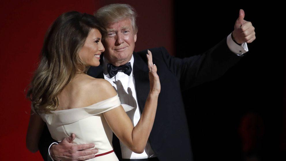 Las mejores imágenes del baile presidencial entre Donald y Melania Trump