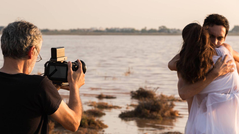 Javier Balaguer, rodando una secuencia del film. (Cortesía)